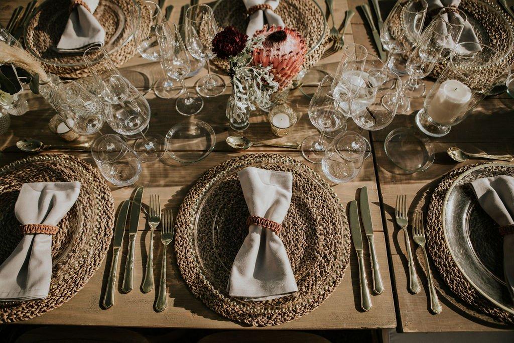 Decoracion mesa protea