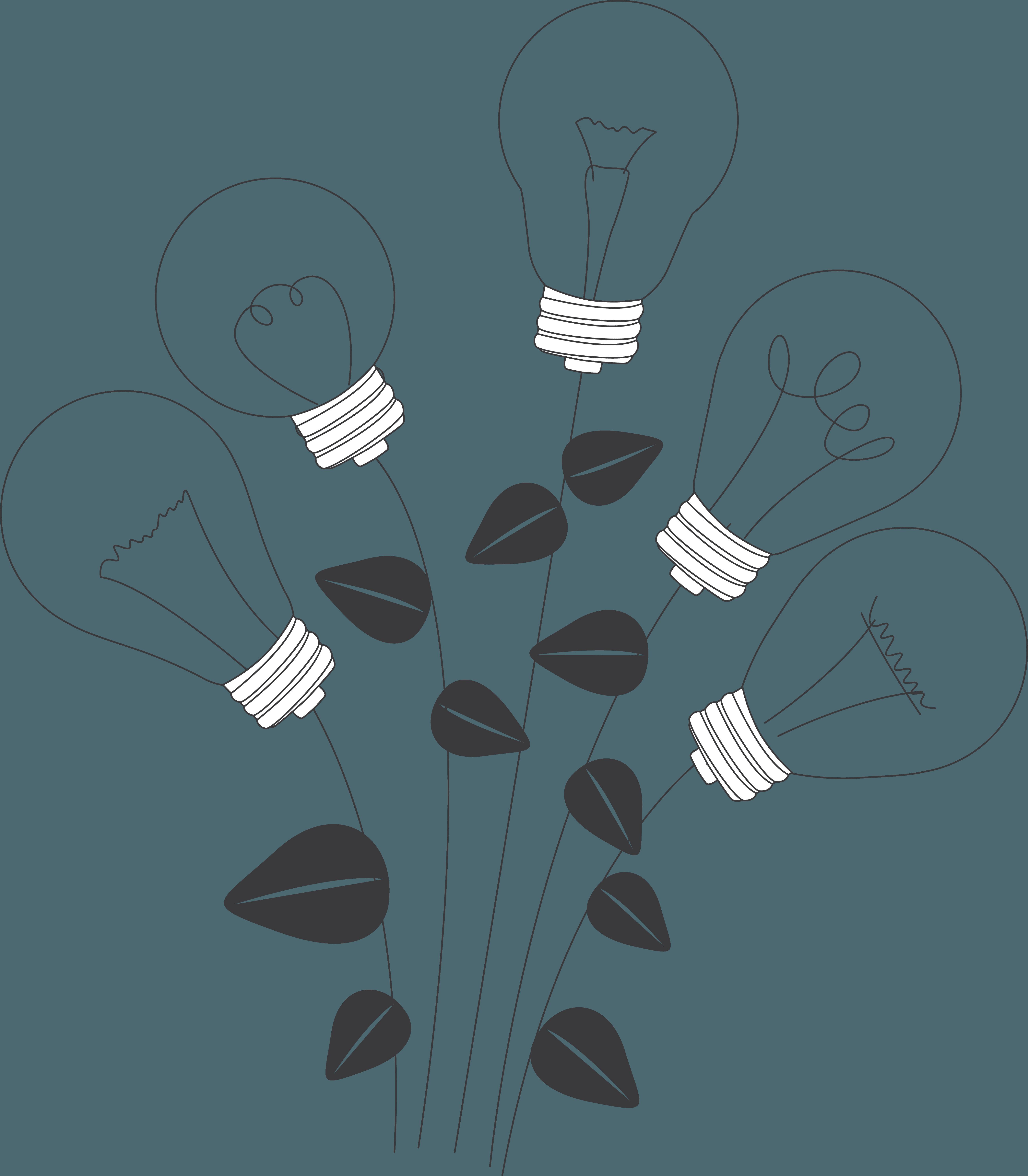 ilustración ramo bombillas